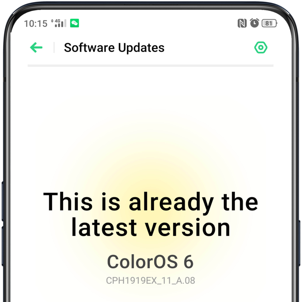 update your oppo latest software version